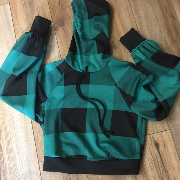 Wild Fable Teal and Black Hoodie